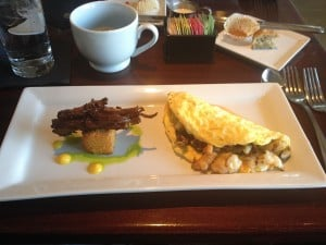 An omelette at 1618 seafood grill