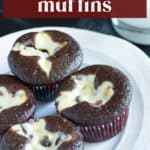 Chocolate Muffins on a plate.