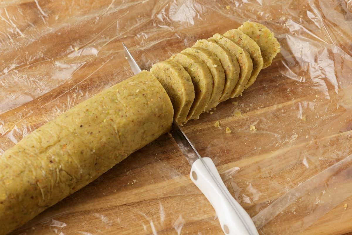 A log of shortbread dough