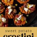 Sweet Potato Crostini on a plate.