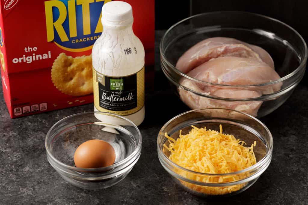 ingredients for ritz cracker chicken