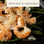 asparagus and shrimp with cheese
