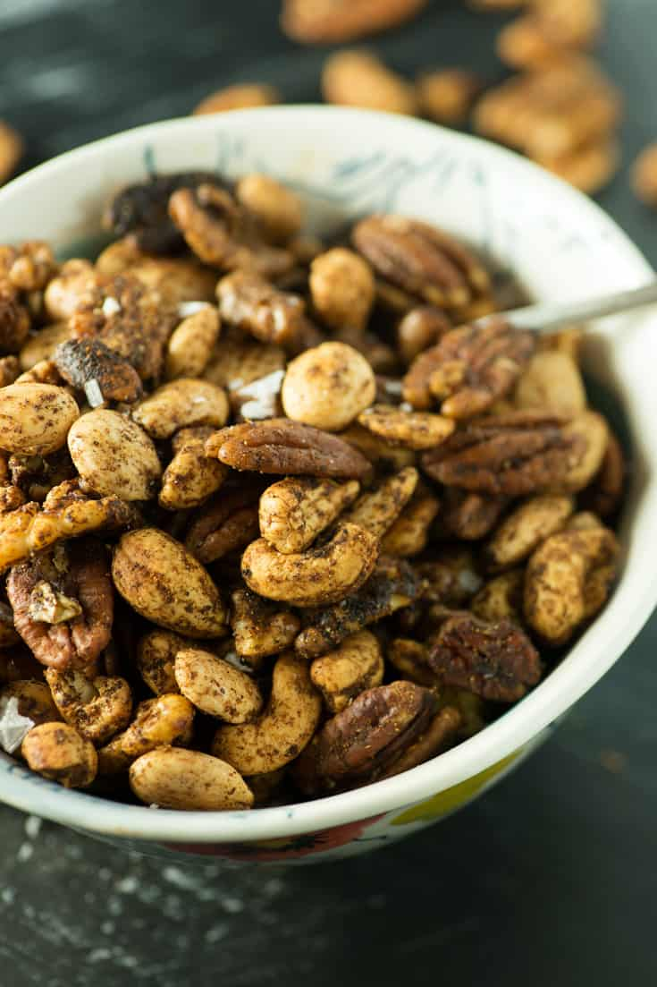Mixed nuts in a bowl