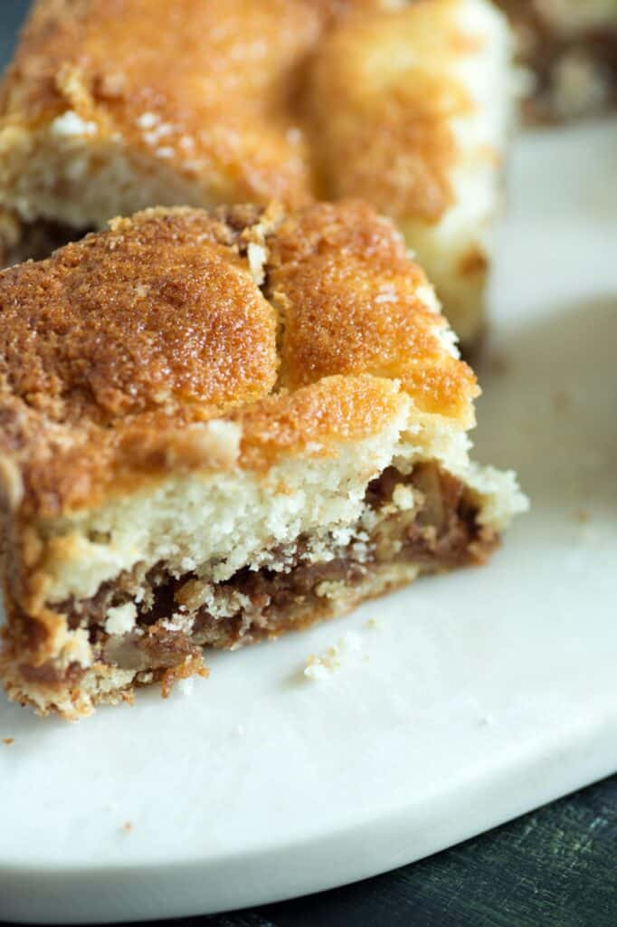Streusel layer of a coffee cake