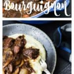 A serving of Beef Bourguignon