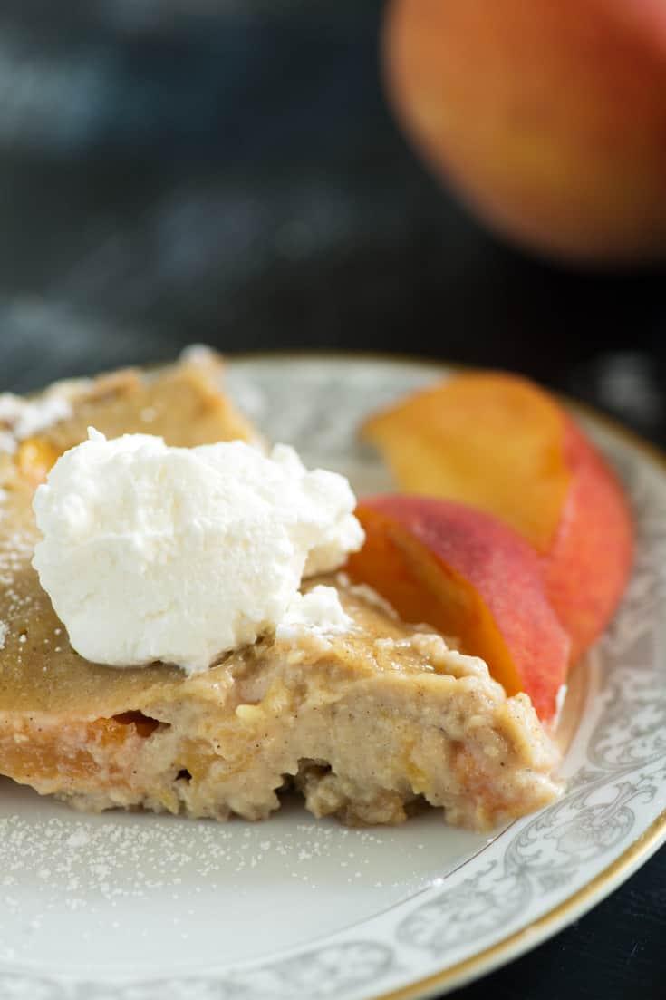 A slice of Peaches and Cream Pie