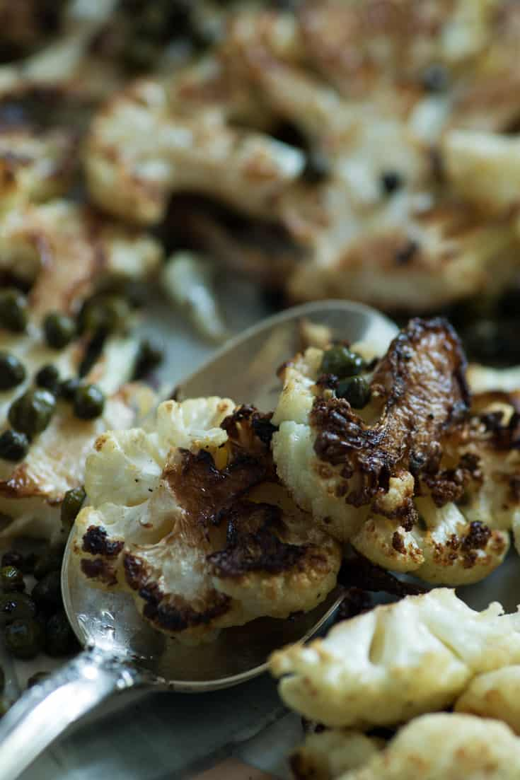 how to cut cauliflower into steaks