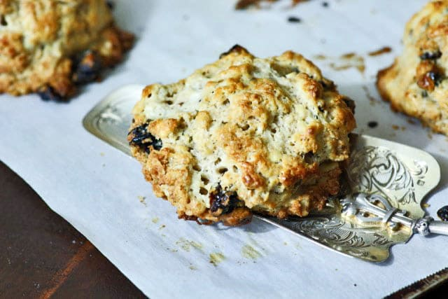 Oatmeal Scones on parchment paper