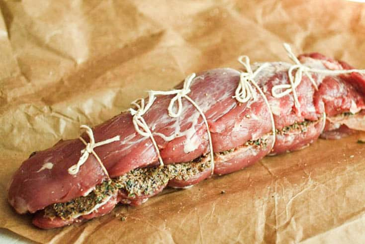 Raw Roasted Pork with Prosciutto and Rosemary-Fig Butter
