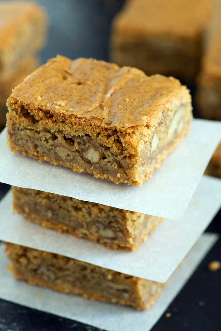 A stack of Browned Butter Blondies