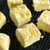 A baking rack of cornbread biscuits