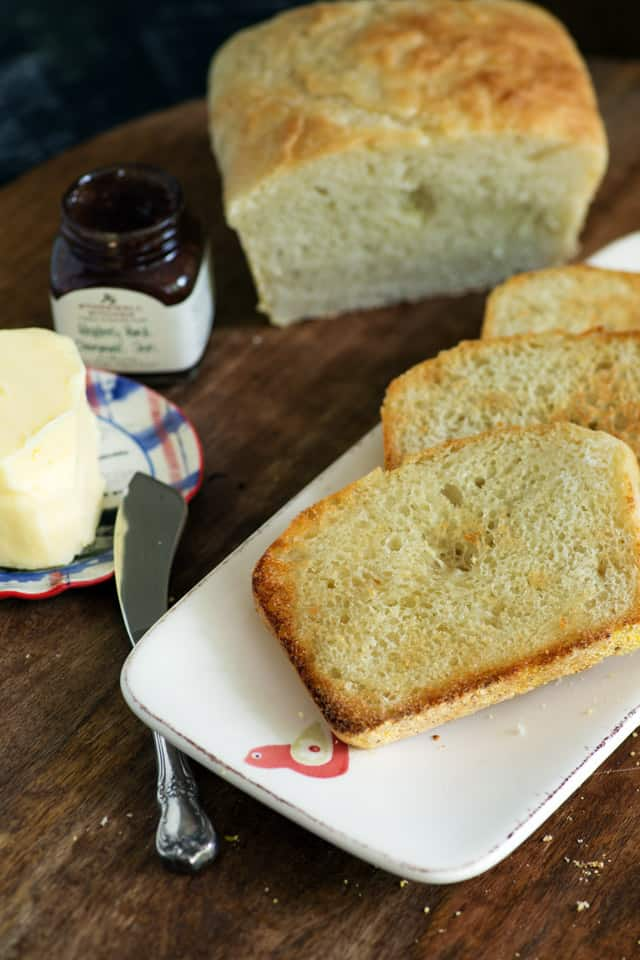 Toasted slices of English Muffin Bread