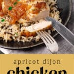 Apricot Dijon Chicken on a plate.