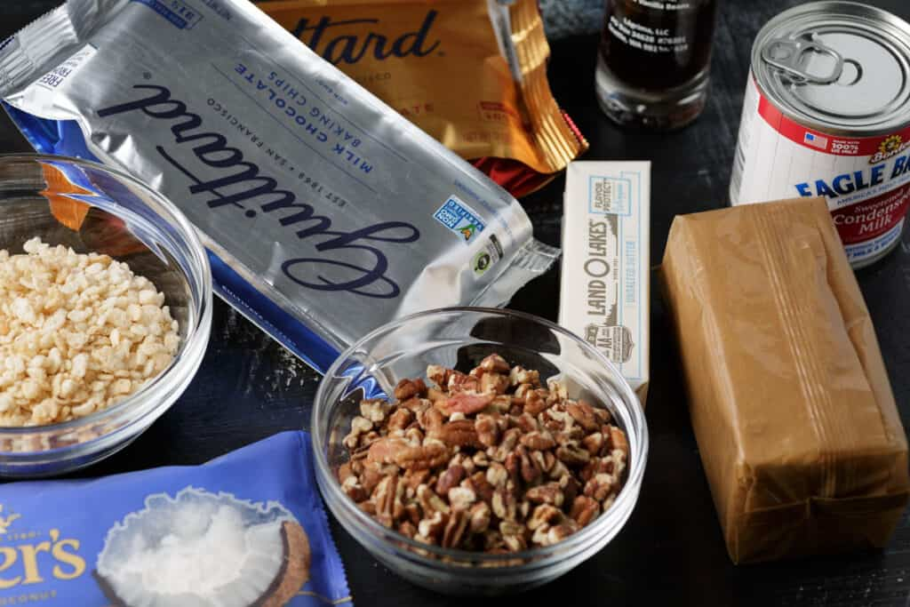 ingredients for 7 layer bars