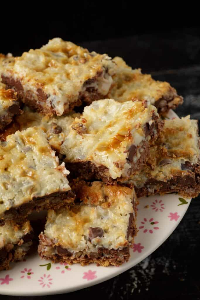 A platter of hello dolly bars