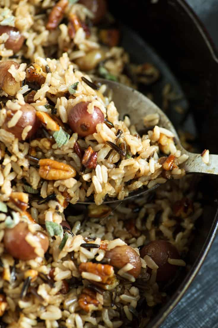 A spoonful of Wild Rice and Grapes