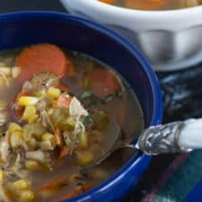 A bowl of Zesty Chicken Soup