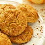 A plate of Pumpkin Snickerdoodles