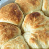 Mashed Potato Rolls in a baking dish