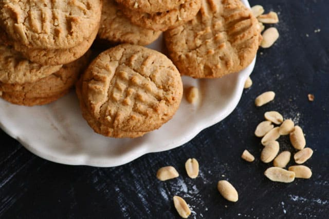 Peppery Peanut Butter Cookies on plate