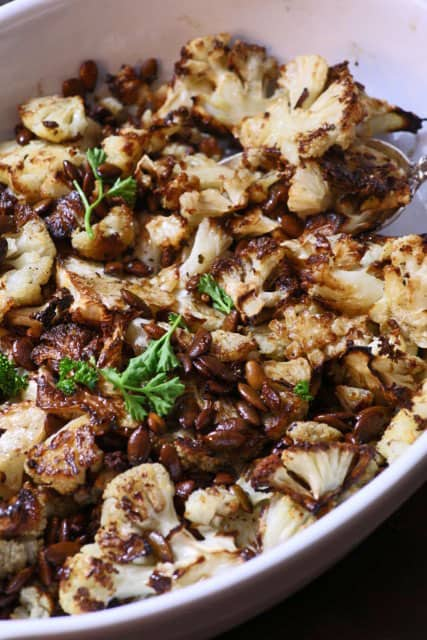 Roasted Cauliflower with Browned Butter | Butter and Baggage