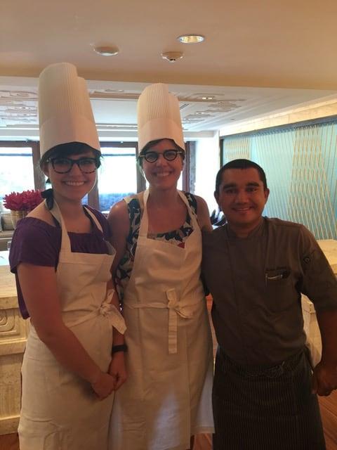 Barbara, Taylor and a Chef at the Four Seasons