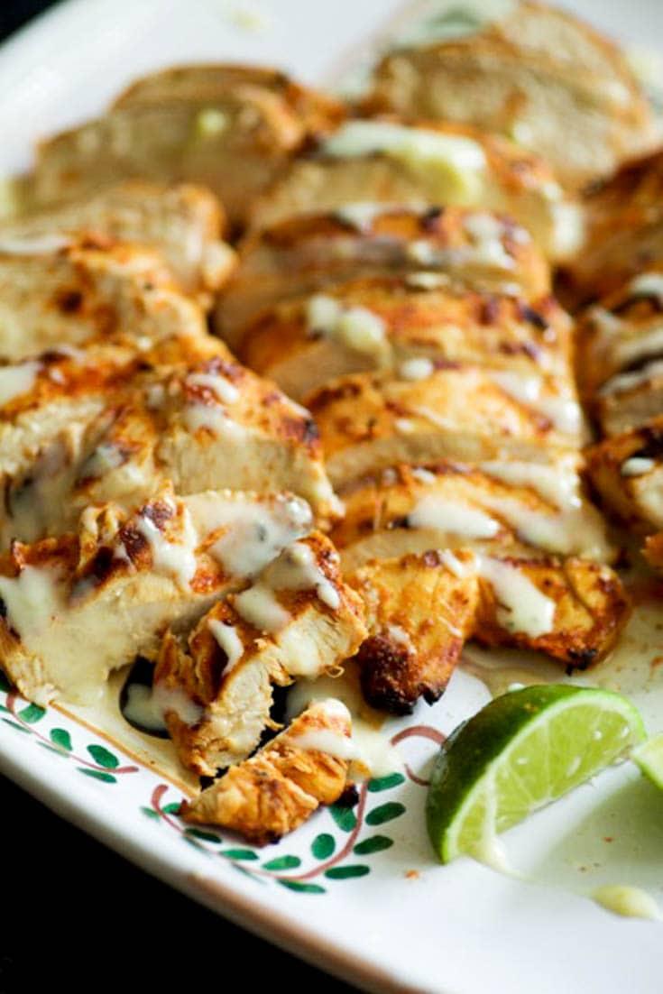 A platter of Taco Chicken