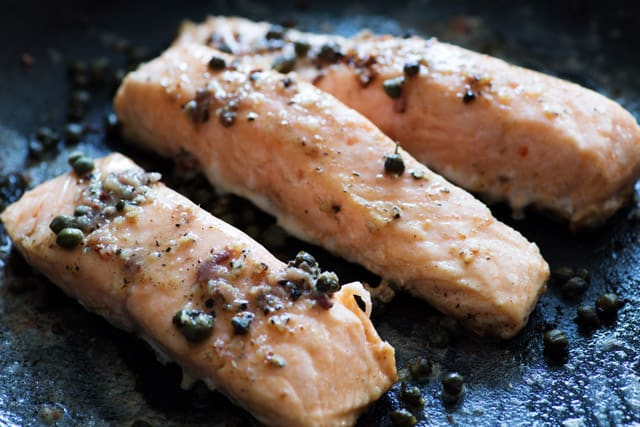 Salmon with Anchovy Butter | Butter and Baggage