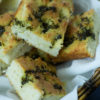 A basket of Focaccia with Almond Flour, ee and low carb bread