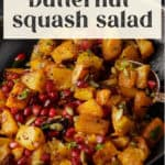 Roasted Butternut Squash Salad in a bowl.