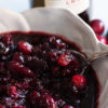 Cranberry relish with Port and Figs in a bowl