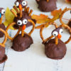 Turkey Oreo Truffles, Oreos and cream cheese covered in milk chocolate and decorated as turkeys, gobble, gobble. |butterandbaggage.com