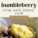 Bumbleberry Crisp with Lemon Curd in a bowl