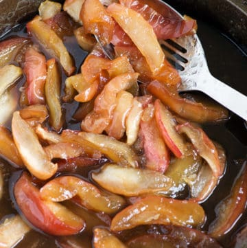 Fried Apples in a skillet