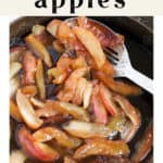 Fried Apples in a pan.