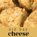 Old Bay Cheese Wafers on a plate.