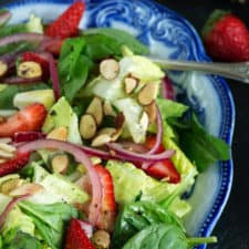 Strawberry Spinach Salad on a platter
