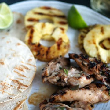 Tequila Grilled Chicken on a platter