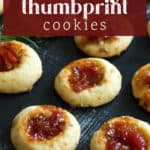 Savory Thumbprint Cookies on a counter.
