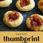 A cluster of Savory Thumbprint Cookies on a plate