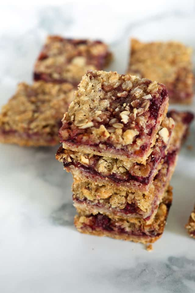 Cherry Streusel Bars are a wonderful way to showcase frozen cherries and they ship well if you want to share with a friend | butterandbaggage.com