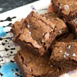 Fudgy Brownies on a serving tray