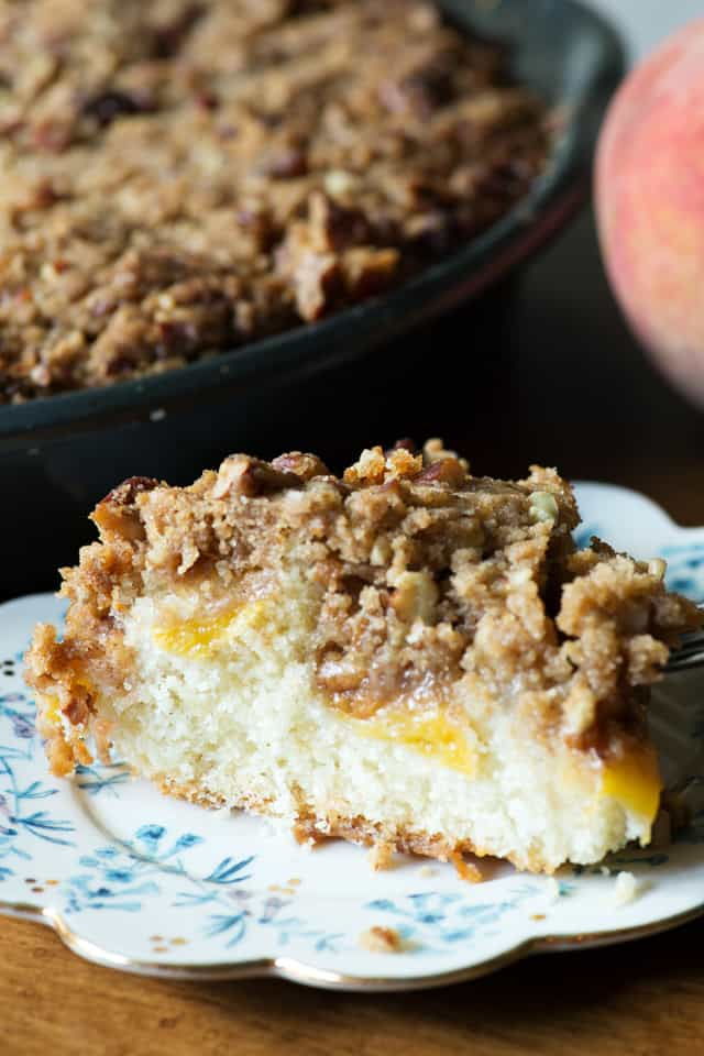 peach coffee cake streusel coffee cake butter and baggage 6402