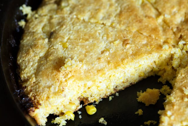 Southern cooking is at its best in this Brown Butter Cornbread recipe using fresh corn and sour cream. Make it sweet with something unexpected. A guaranteed crowd pleaser. |butterandbaggage.com