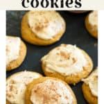 Pumpkin Cookies on a counter top.