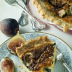 A slice of Quiche with figs