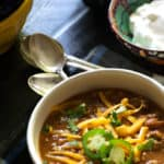 A bowl of Instant Pot Chili