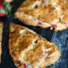 Ready for Spring in December, try these rich and buttery strawberry scones. The pop of strawberries make them perfect for a Christmas brunch or tea. |butterandbaggage.com