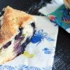Blueberry scone on a napkin