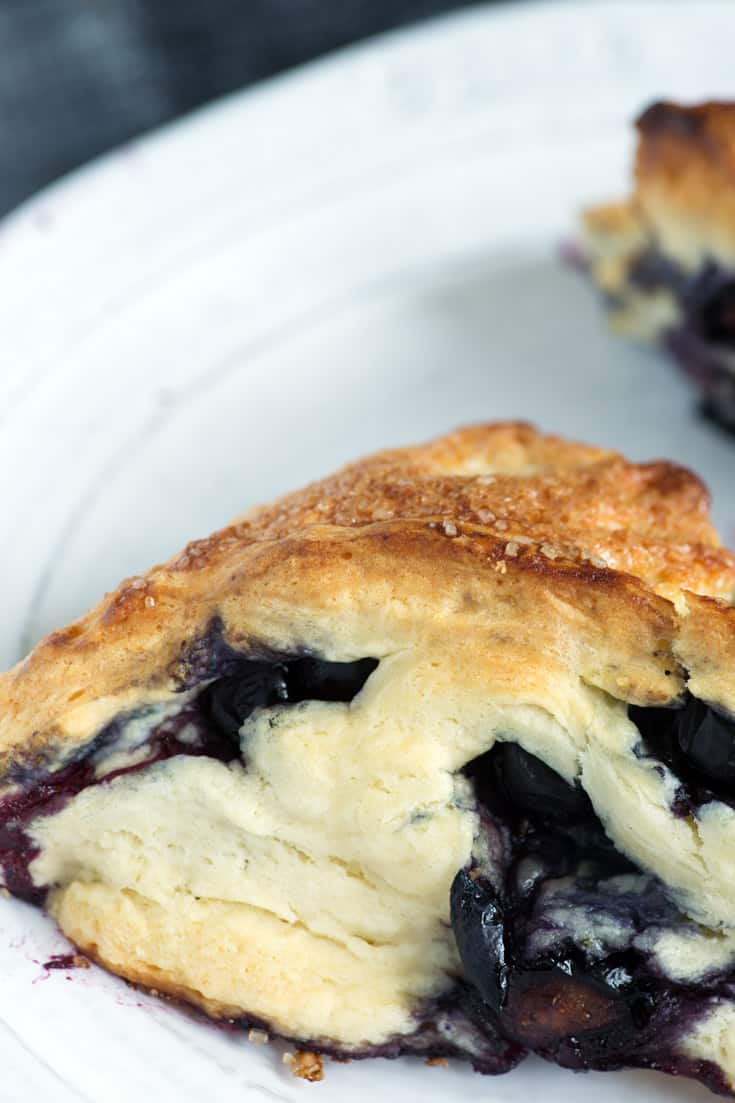 Blueberry scone on a plate